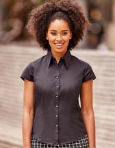 Ladies` Cap Sleeve Fitted Tencel® Shirt